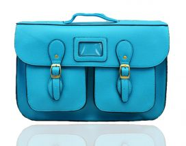 8230 Double Pocket Satchel with Magnetic Snap & Top Zip Secure Closure